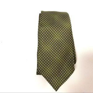 Pal Zileri E14 Mens Tie Silk Geometric Green Work